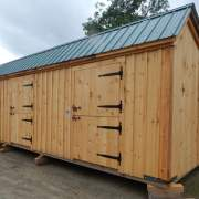 12x20 Stall Barn with dutch doors