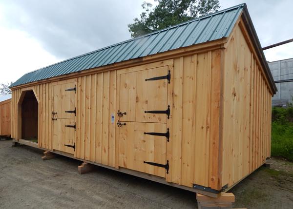 12x20 Stall Barn with dutch doors