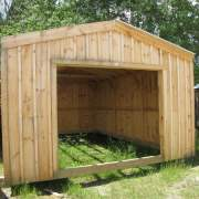 14x20 Garage with pine board and batten siding