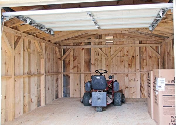 14x20 Barn Garage Interior