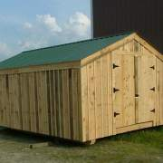 14x20 Barn with Evergreen Roof
