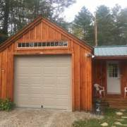 14x20 One Bay Garage post and beam building kit with client designed breezeway