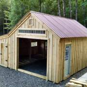 14x20 One Bay Garage with roof, window and overhang upgrades