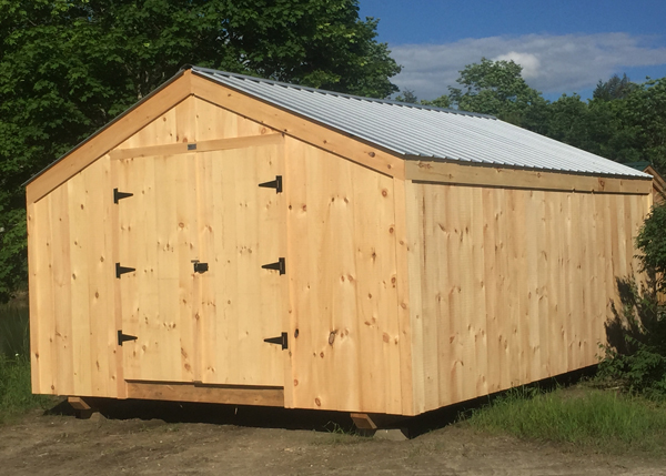 14x24 Barn with Silver Galvanized Metal Roof Color Upgrade