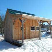 16x16 Homesteader is a tiny house that includes a spacious porch