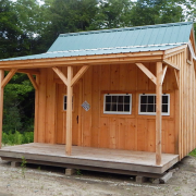 The 16x16 Homesteader looks great in a natural setting such as a mountain, lake, field or forest.