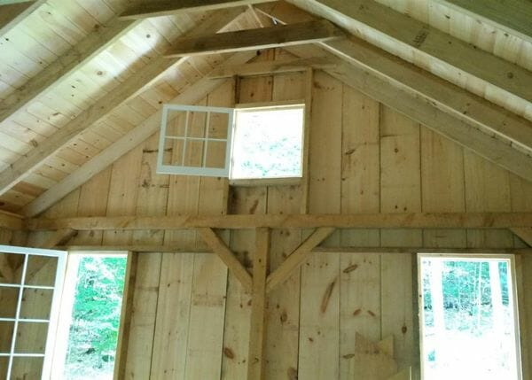 The window layout was modified on this 16x20 Vermont Cottage B