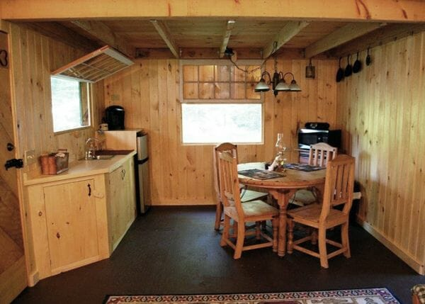 16x20 Vermont Cottage Option C modified to have interior shiplap pine sheathing