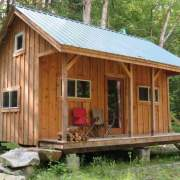 16x20 Vermont Cottage A with insulated windows and an insulated door