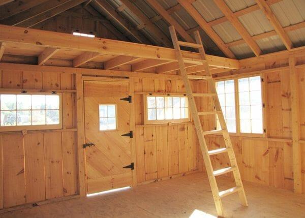 16x20 Vermont Cottage Option C Loft and Ladder