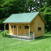 16x20 Vermont Cottage A being used as a pool house