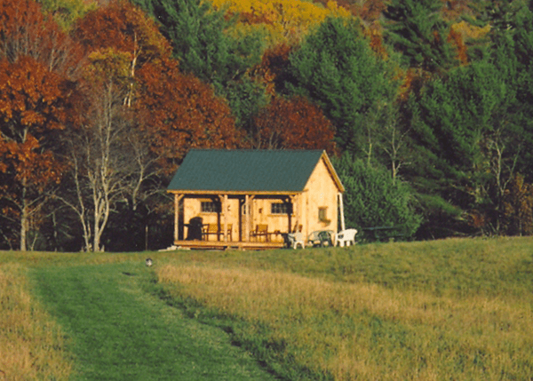 16x20 Vermont Cottage A built from the Complete Pre-cut Kit