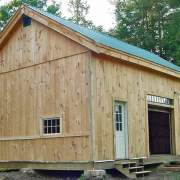20x30 Two Bay Garage shown with fixed transom windows upgrade