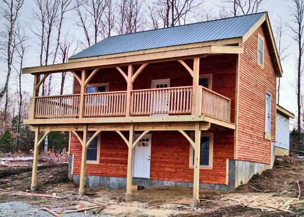 Vermont Cabin with Overhang and other client made modifications