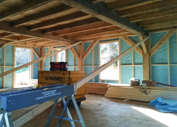 20x30 Vermont Cabin Three Season Interior