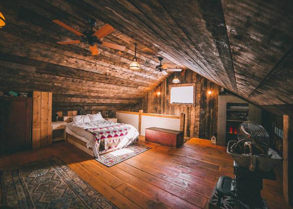 20x30 Vermont Cabin - Interior Loft