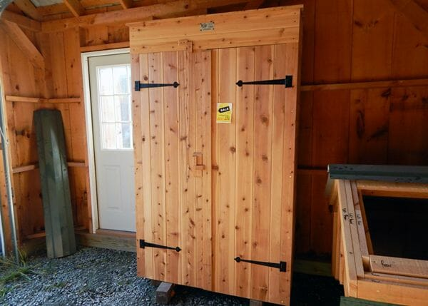 The 2x4 Garden Closet comes in ready to assemble panels