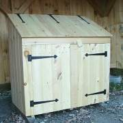 2x4 Garbage Bin can be used to store garden tools too
