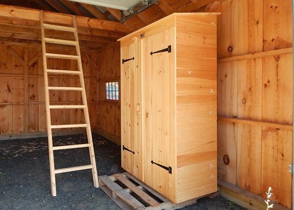 Garden Tool Closet Wooden Garden Storage Cabinet