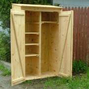 2x4 Garden Closet comes with adjustable shelving for optimal organization