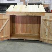2x4 Garbage Bin includes a set of double doors