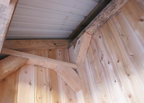 3x5 Garbage Bin built with a post and beam hemlock frame