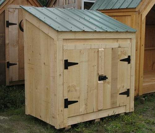 3x5 Garbage Bin with double doors and fastening hardware