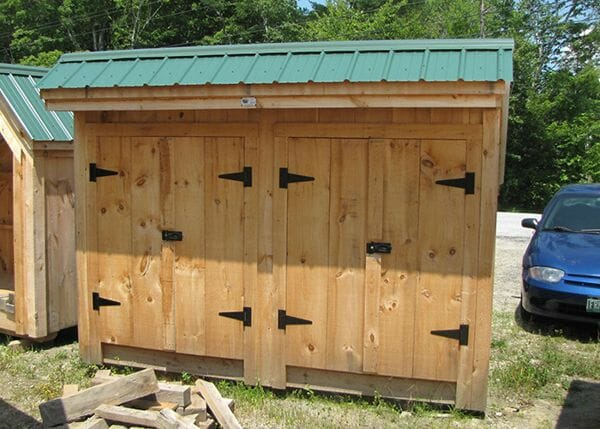 4x10 Garbage Shed can be used for organizing recycling, trash, garden tools or other odds and ends.