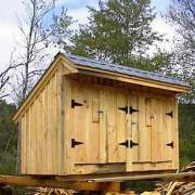 4x10 Garbage Shed with roof upgrade