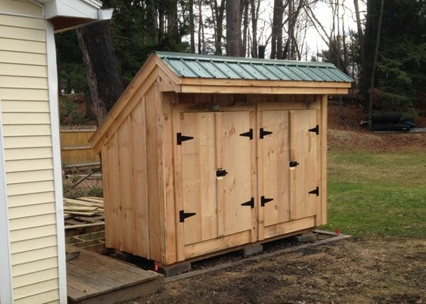 4x10 Garbage Shed with two sets of double doors