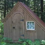 6x10 Hardware Shed with roof, window and stain upgrades.