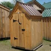 4x4 Functional Outhouse with tudor brown roof