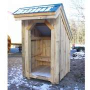 4x4 Bus Stop with built in bench and evergreen metal roof
