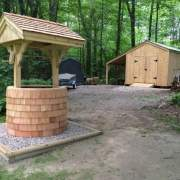 4x4 Wishing Well with 10x14 New Yorker Shed