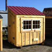 4x6 Chicken Coop with Autumn Red Roof upgrade