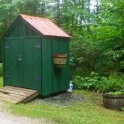 6x4 post and beam utility shed small economical storage solution