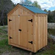 Pressure treated skids and joists and pine battens were added to this 6x4 Utility Shed