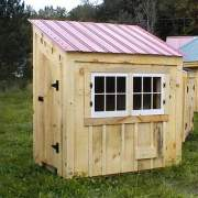 4x6 Coop with Autumn Red Roof