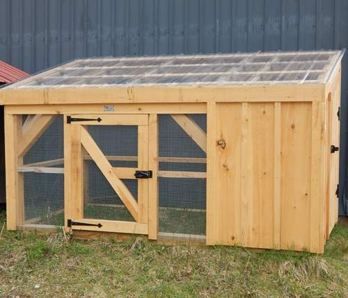 5x10 Chicken Coop with ClearPoly Roof