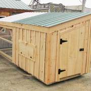 5x10 Chicken Coop with single door