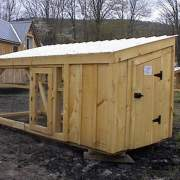 5x10 Chicken Coop with two doors