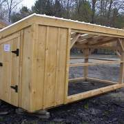 5x10 Chicken Coop with a clearpoly roof