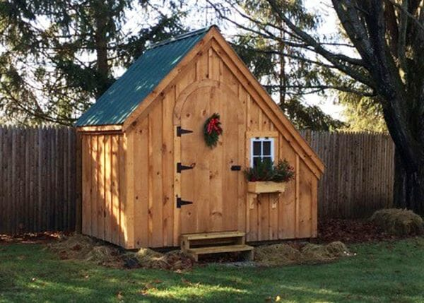 6x10 Hardware Shed with a flower box add on