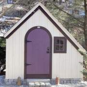 6x10 Hardware Shed painted purple