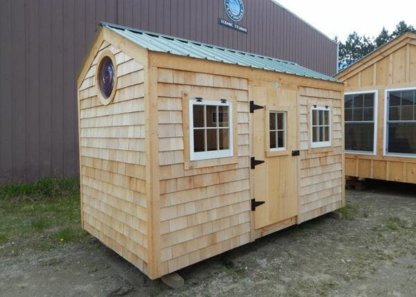 6x12 Nantucket with siding and window upgrades