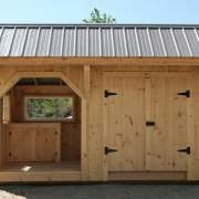 6x14 Weston Potting Shed with Patriican Bronze corrugated metal roof upgrade