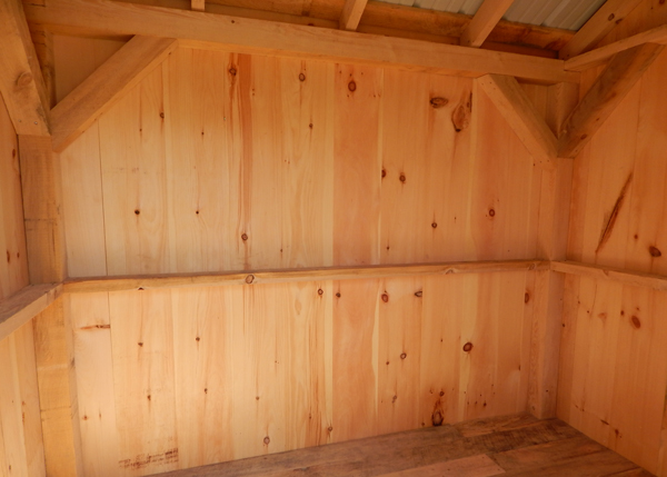 6X8 Nantucket Interior - Post and Beam Hemlock Construction