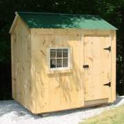 6x8 Nantucket is a small post and beam storage shed or playhouse