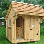 6x8 Weston Potting Shed with red cedar shingle roof upgrade