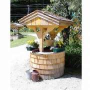 4x4 Wishing Well available as a kit, assembled unit or step by step plans